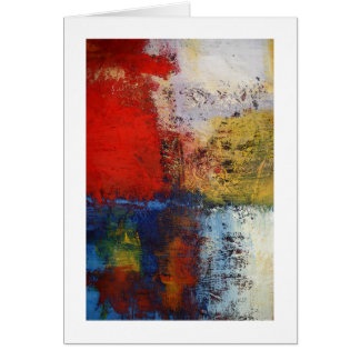 Colorful Modern Abstract Artwork Greeting Card