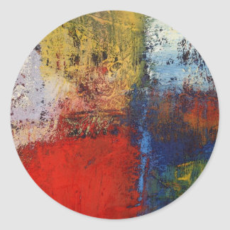 Colorful Modern Abstract Artwork Classic Round Sticker