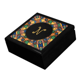 Colorful Modern Abstract Monogram Letter Gift Box