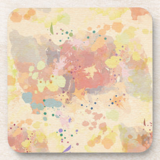 Colorful Modern Abstract Paint Splash Coaster