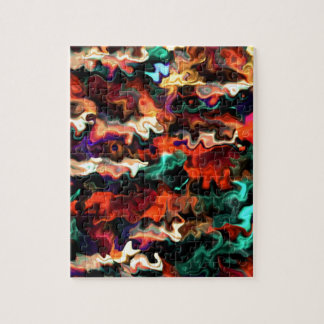 Colorful Modern art For Winners 55.55 Jigsaw Puzzle