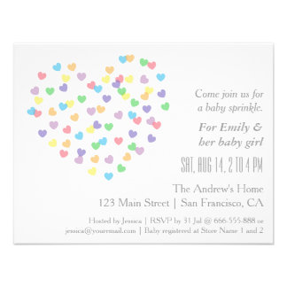 Colorful Modern Baby Sprinkle Invitations