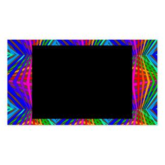 Colorful Modern Bold Spectrum Geometric Fun 10 Business Card