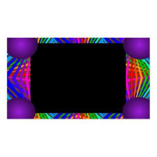 Colorful Modern Bold Spectrum Geometric Fun 11 Business Card