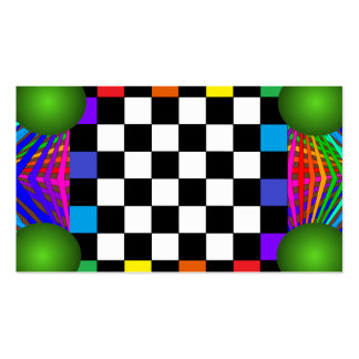 Colorful Modern Bold Spectrum Geometric Fun 12a Business Card