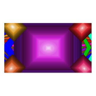 Colorful Modern Bold Spectrum Geometric Fun 17 Business Card