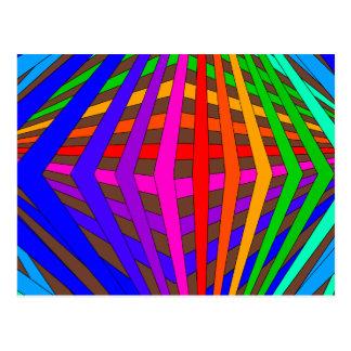 Colorful Modern Bold Spectrum Geometric Fun 1 Postcard