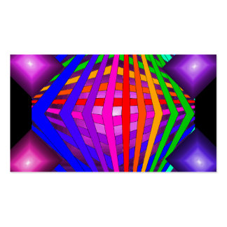 Colorful Modern Bold Spectrum Geometric Fun 21 Business Card