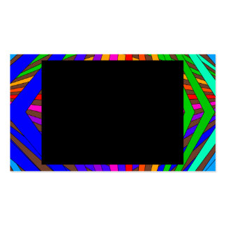 Colorful Modern Bold Spectrum Geometric Fun 3 Business Card