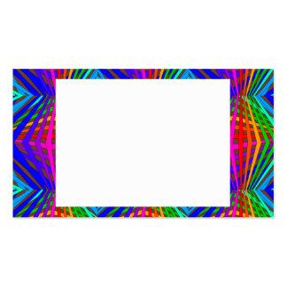 Colorful Modern Bold Spectrum Geometric Fun 9 Business Card
