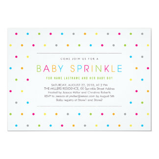 Colorful Modern Clean Neutral Baby Sprinkle Invite