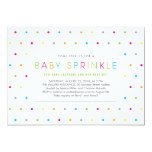 """Colorful Modern Clean Neutral Baby Sprinkle Invite 5"""" X 7"""" Invitation Card"""