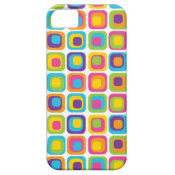 Colorful Modern Dots and Squares Pattern Gifts iPhone 5 Cases
