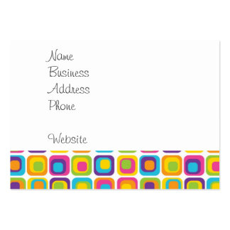 Colorful Modern Dots and Squares Pattern Gifts Large Business Card