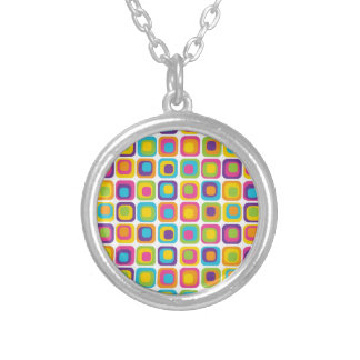 Colorful Modern Dots and Squares Pattern Gifts Pendant