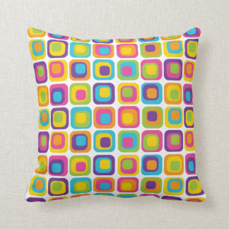 Colorful Modern Dots and Squares Pattern Gifts Pillow