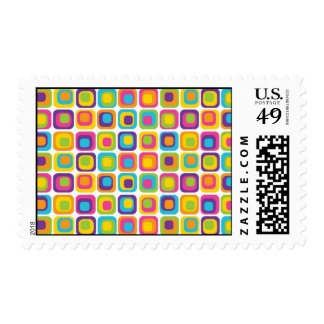 Colorful Modern Dots and Squares Pattern Gifts Stamps