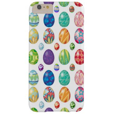 Colorful Modern Easter Eggs Pattern | Holidays Barely There iPhone 6 Plus Case