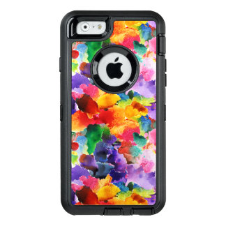 colorful modern floral abstract art OtterBox defender iPhone case