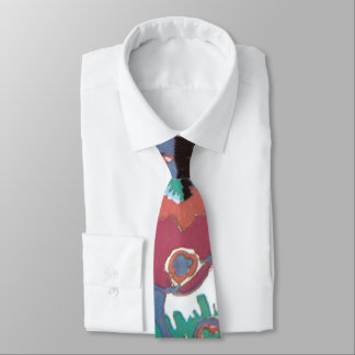 Colorful Modern Floral Abstract Tie