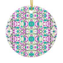 Colorful Modern Floral Baroque Pattern Ceramic Ornament