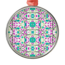 Colorful Modern Floral Baroque Pattern Metal Ornament