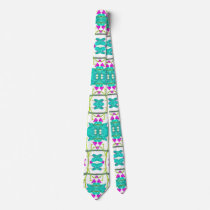 Colorful Modern Floral Baroque Pattern Neck Tie