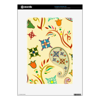 Colorful Modern Floral Pattern Decals For Kindle DX