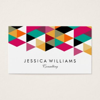 Colorful Modern Geometric Design Business Card