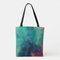 Colorful Modern Geometric Octagon Pattern Tote Bag