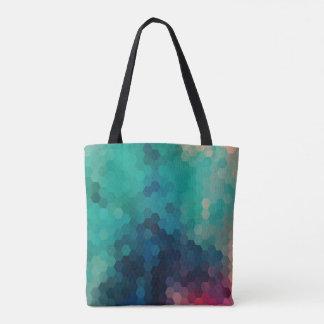 Colorful Modern Geometric Octagon Pattern Tote Bag