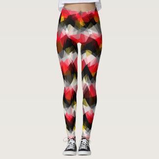 Colorful Modern Geometric Pattern #32 Leggings