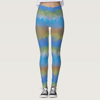 Colorful Modern Geometric Pattern #35 Leggings