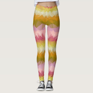 Colorful Modern Geometric Pattern #50 Leggings