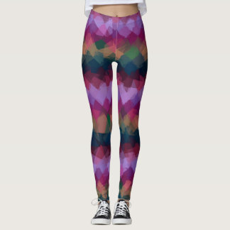 Colorful Modern Geometric Pattern #6 Leggings