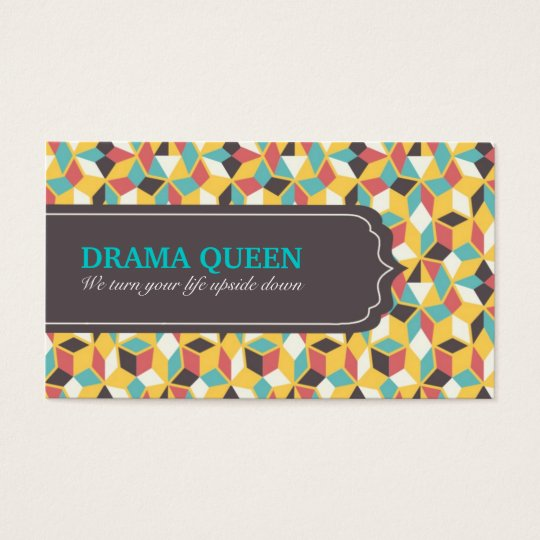 Colorful Modern Geometric Pattern Business Card