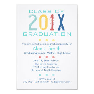 Colorful Modern Graduation Party Invitation