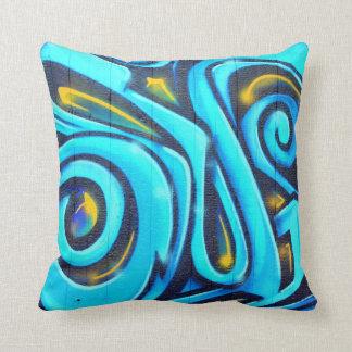 Colorful Modern Graffiti Street Art Painting Throw Pillow