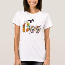 Colorful Modern Halloween Artsy Boo T-Shirt