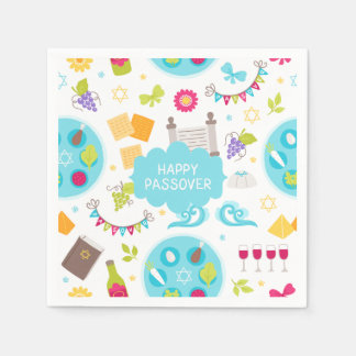 Colorful Modern Happy Passover Napkin