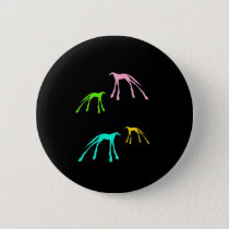 Colorful Modern Horses on Black Pinback Button