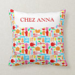 Colorful Modern Kitchenware and Name Pillow