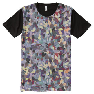 Colorful Modern Leaf Pattern All-Over-Print Shirt