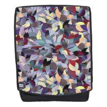 Colorful Modern Leaf Pattern Backpack