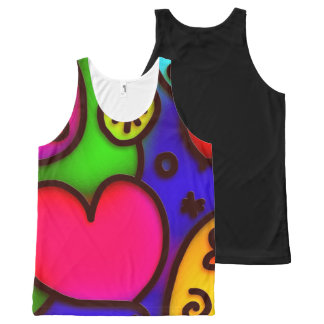 colorful modern love 2 All-Over print tank top