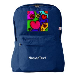 colorful modern love 2 backpack