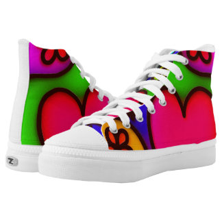 colorful modern love 2 High-Top sneakers