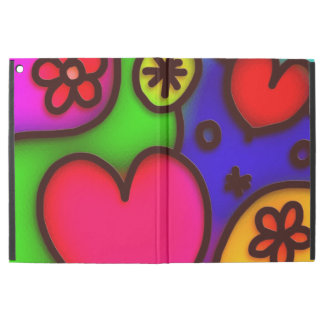 colorful modern love 2 iPad pro case