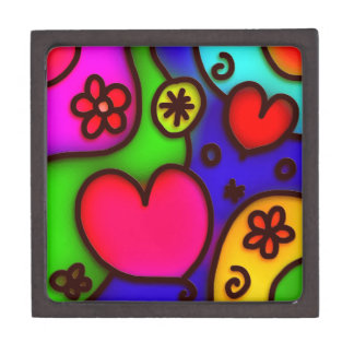colorful modern love 2 jewelry box