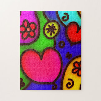 colorful modern love 2 jigsaw puzzle